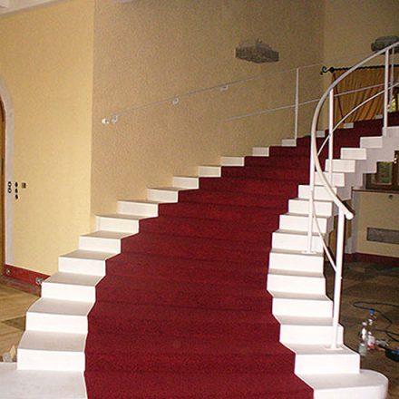 Treppenbelag Käthe-Wohlfahrt-Ausstellung