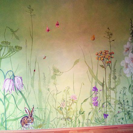 Wandbespannung Kinderzimmer