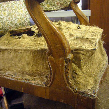 Innenleben eines Stuhls
